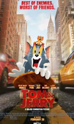 capa do filme Tom & Jerry que está em exibição no cinema em maringá
