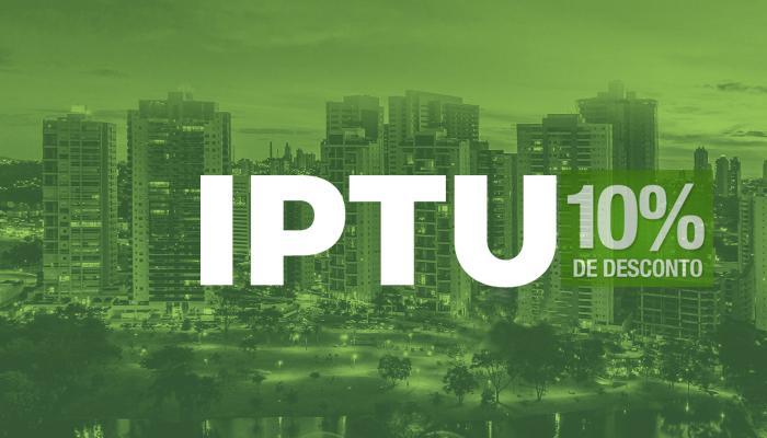 Prefeitura oferece desconto de 10% e 7% para pagamento à vista do IPTU.